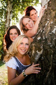 Women and the tree — Stock Photo