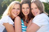 3 mutlu yüzler — Stok fotoğraf