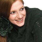 Amused redhead — Stock Photo