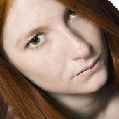 Waiting redhead — Stock Photo