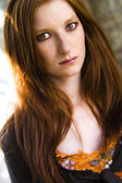 Redhead in the sun — Stock Photo
