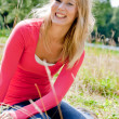 Smiling blond girl - Foto de Stock