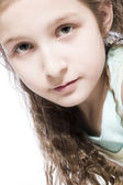 Young girl concentrated — Stock Photo