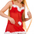 Beautiful Christmas faerie with very long hair — Stock Photo