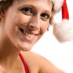 Flirting beautiful Christmas faerie — Stock Photo
