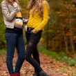 Teens in the autumn — Stock Photo