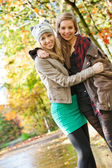 Smiling teens — Stock Photo