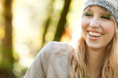 Smiling forest girl — Stock Photo