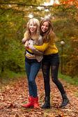Happy teenagers — Stock Photo