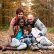 Multicultural family — Stock Photo