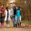 Take a walk with the multicultural family — Stock Photo #17692715
