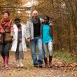 Take walk with multicultural family — Stock Photo #17692715