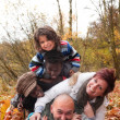 Mukltiracial family is having fun - Foto Stock