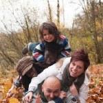Happy multiracial family — Stock Photo