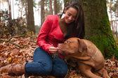 Happy with my dog — Stock Photo