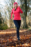 Jogging in the forest — Stock Photo
