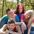 Happy teenage group — Stock Photo