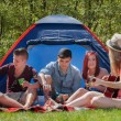 Stock Photo: Barbeque youth on camping