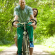 Married couple on a bike — Stock Photo