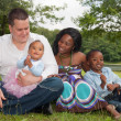 Multicultural african family — Stock Photo