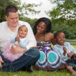 Multicultural african family — Stock Photo #30843213