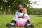 African children love — Stock Photo
