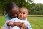 Hugging with my african sister — Stock Photo