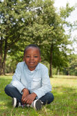 African boy in the nature — Stock Photo