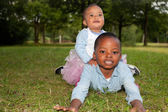 African children on the grass — Stock Photo