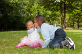 Sweet little african children — Stock Photo