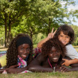 Multi ethnic children and peace sign — Stock Photo #31739485