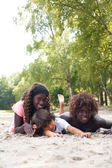 Summertime with the ethnic children — Stock Photo