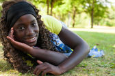 Happy teenage black girl — Stock Photo