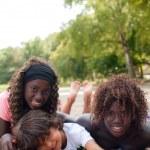 Multi ethnic children in the summer — Stock Photo