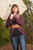 Safe under the umbrella — Stock Photo