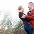 Nice couple in the wind — Stock Photo #35820845