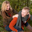 Young couple is having fun — Stock Photo #35826867