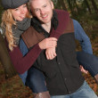 Piggyback while dating — Stock Photo