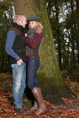 Paar erstes date — Stockfoto