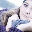 Cold winter portrait — Stockfoto