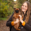 Girl with a nice dog — Stock Photo #36825255