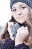 冬季时尚肖像 — 图库照片