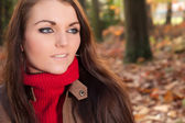 Portret van een brunette — Stockfoto