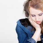 Depressed blond punk girl — Stock Photo #44539923