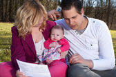 Young family victims of the recession — Stock Photo