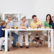 Royalty-Free Stock Photo: Happy family having breakfast together