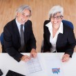 Senior partners at a business meeting — Stock Photo