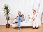 Senior couple after an argument — Stock Photo
