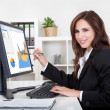Businesswoman Showing Graph — Stock Photo