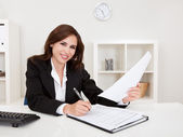 Businesswoman With Paperwork — Stock Photo